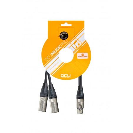 Cable XLR H- 2X XLR M Neutrik 30 cm