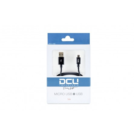 Cable Micro USB - USB PURE SOFT negre 1m