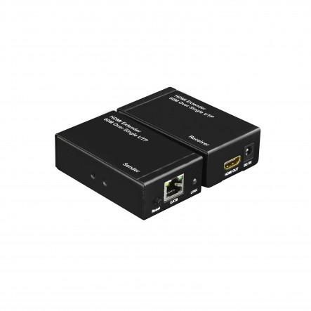 EXTENSOR DE  HDMI POR Cat5e/6 60m