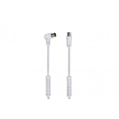 Câble Antenne TV LTE 90º Male - Femelle / Avec filtres blancs 3m