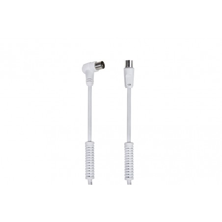 Satellite TV LTE Cable 90ºM - F / with White filters 3m