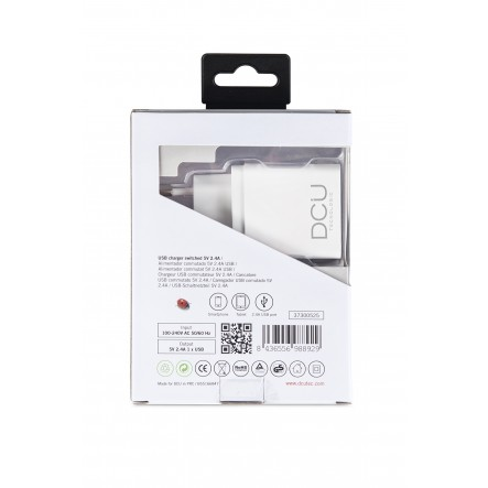 Charger 1 x USB 5V 2.4 A