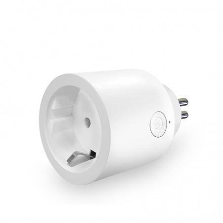 Pack 2 WiFi round smart plugs EU socket