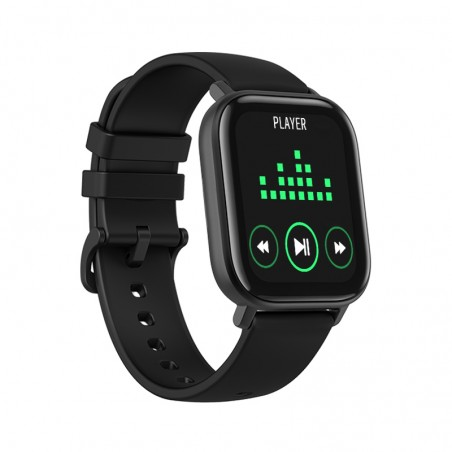 Smartwatch Curved Glass Negre