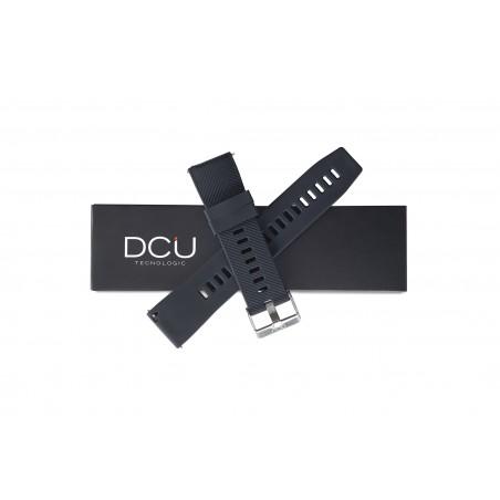 Thick black silicone strap...