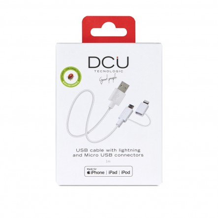Conexión USB - MFI Iphone + Micro USB 1m