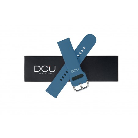 Light blue silicone strap...