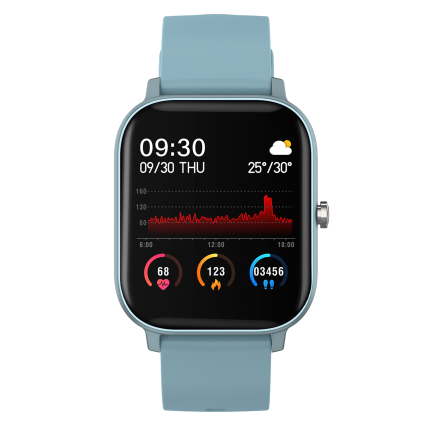 Smartwatch Curved Glass Azul
