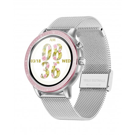 Smartwatch Silver Metal 23...