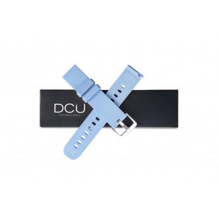 Blue silicone strap 19mm...