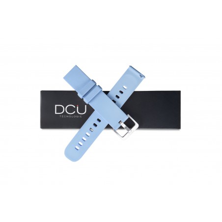 Bracelet silicone bleu 19mm...