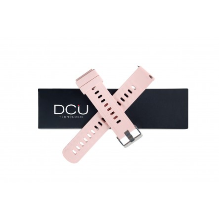 Pink silicone strap 19mm...