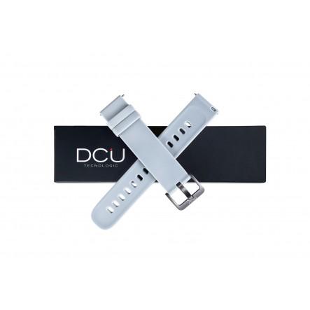 Gray silicone strap 19mm...