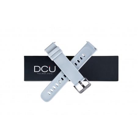 Bracelet silicone gris 19mm...