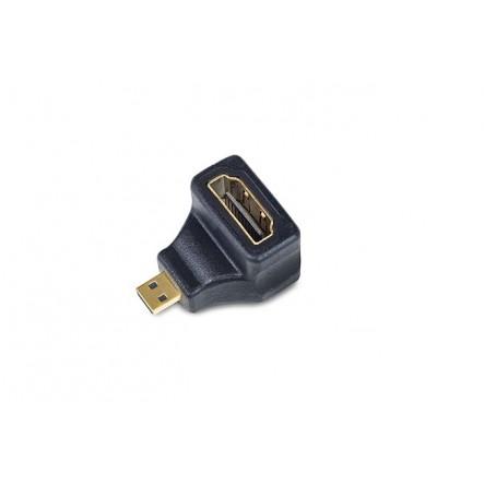 Adaptador Micro HDMI Mascle-HDMI Femella 90º