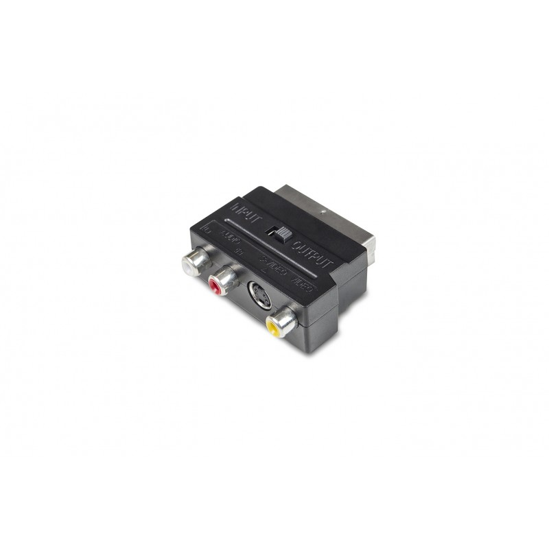 Adaptador Euroconector 3xRCA+SVideo