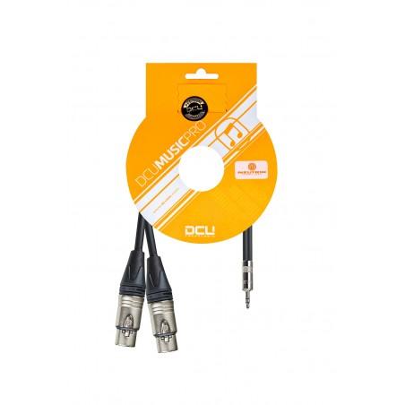 PRO 2 x XLR F Neutrik - 3,5 mm Jack M Stereo Rean