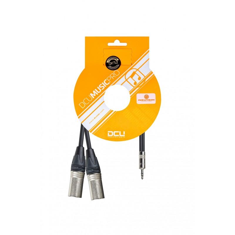 PRO 3,5 mm Jack M Stereo Rean - 2 x XLR M Neutrik