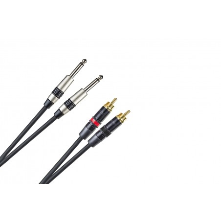 CNX. AUDIO PR.2x RCA M- 2x6.3 JCK M MONO REAN 0.5m