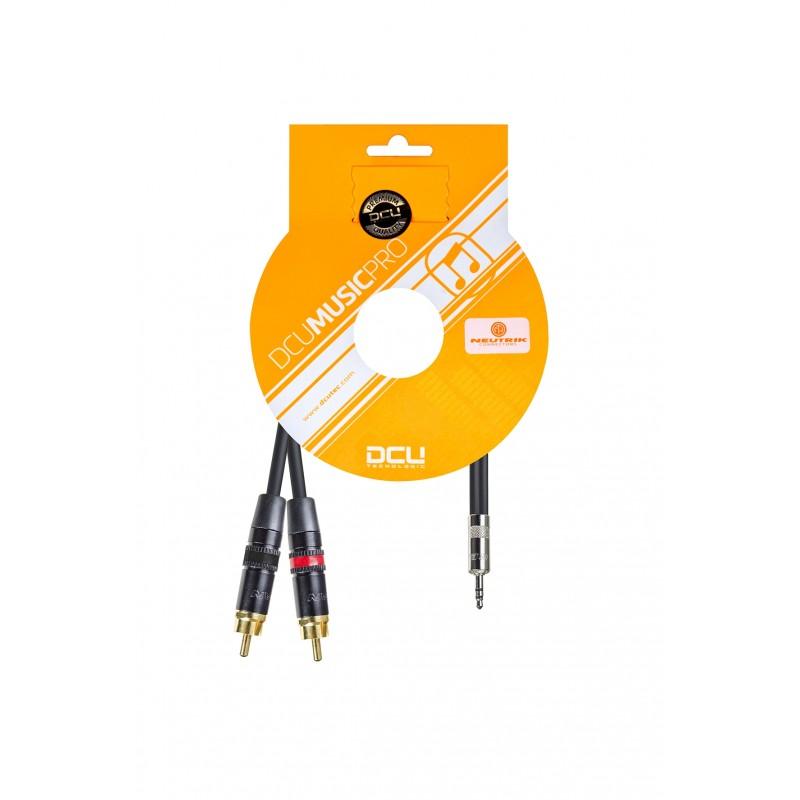CONEX. AUDIO PRO 3.5 JCK M ST.- 2x RCA M REAN 1m