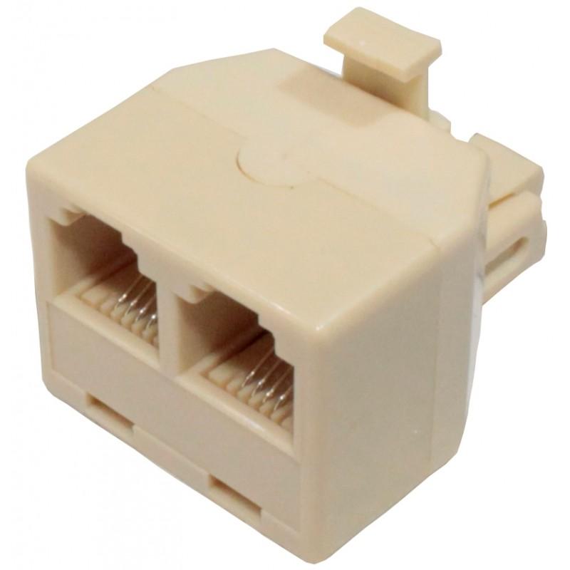 Adaptador Telefónico 8p8c doble salida 8V