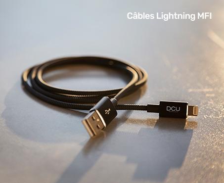 Câble Lightning MFI - DCU