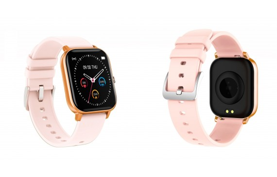Novo Smartwatch Curved Glass Peach